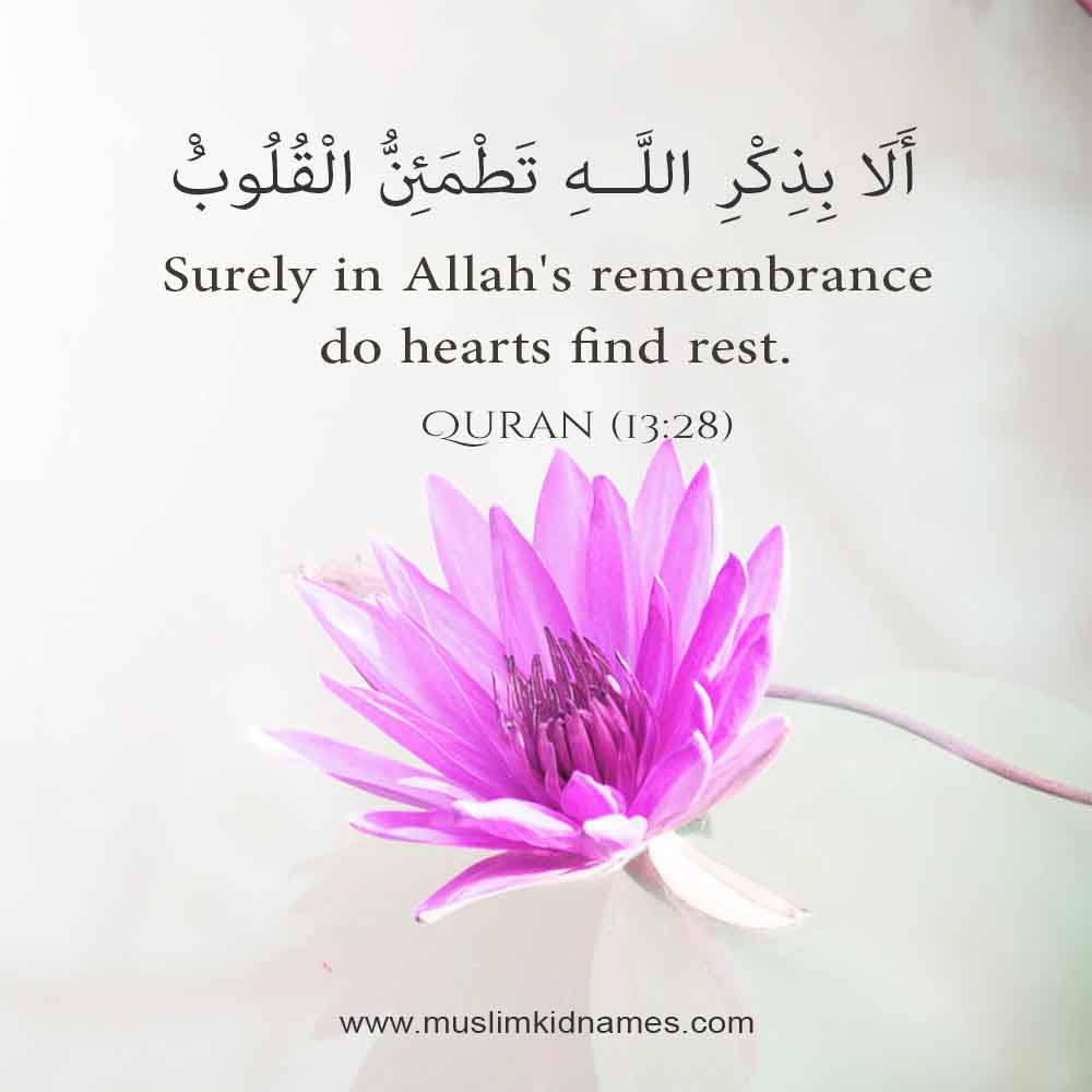 Remembrance of Allah free islamic quote