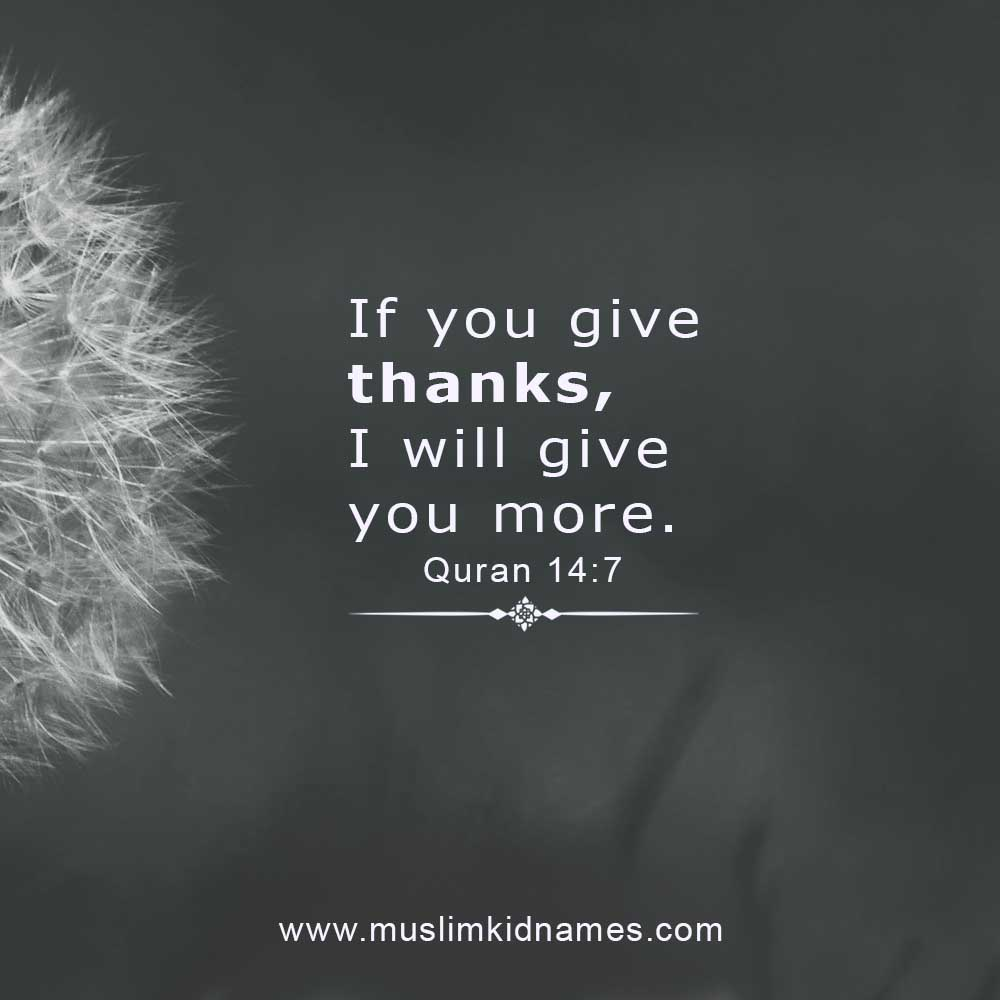 If you give thanks free islamic image