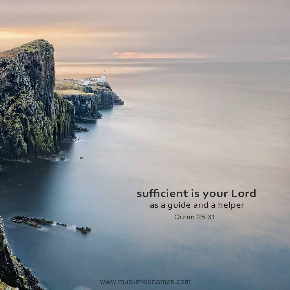 Sufficient is your Lord free islamic image