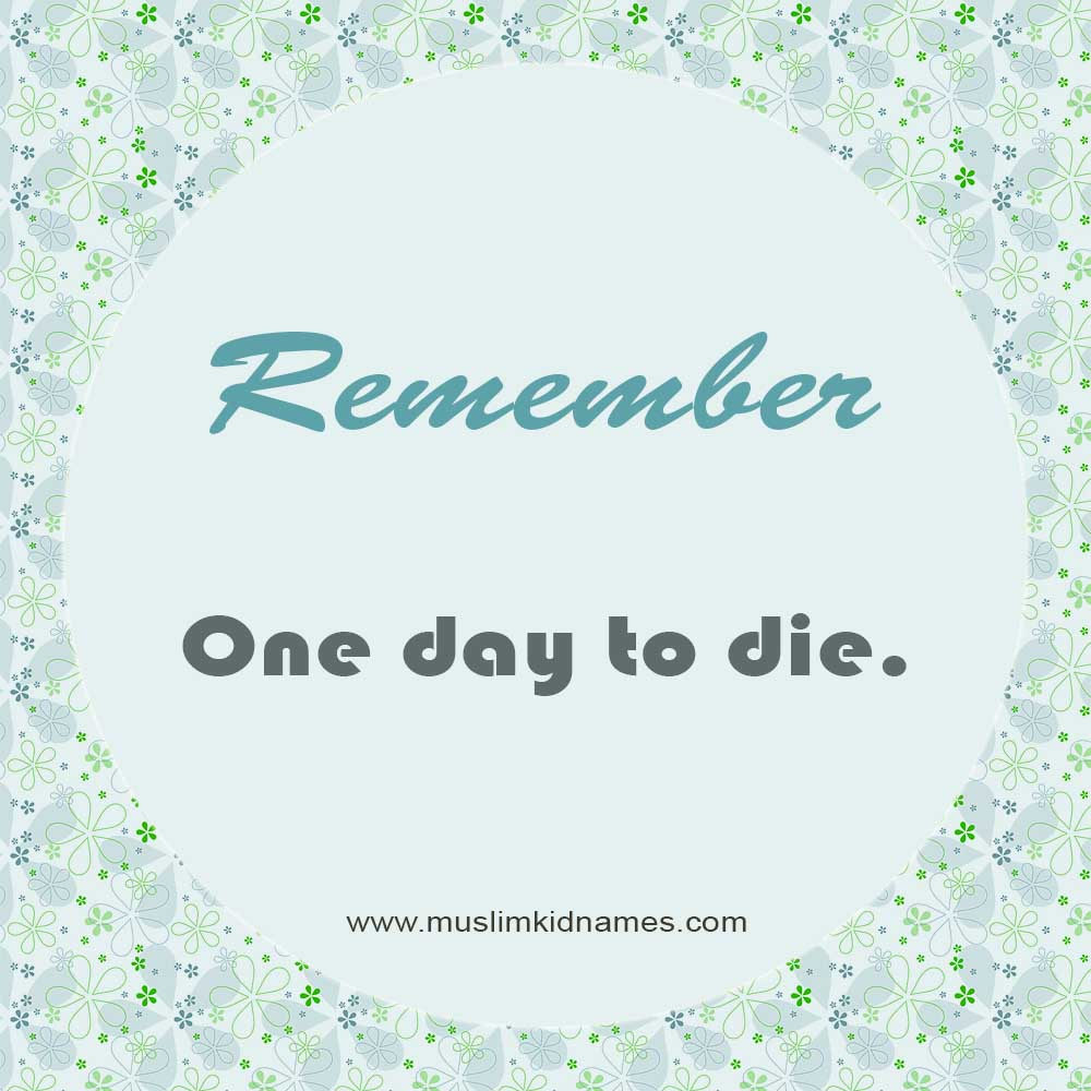One day to die free islamic image