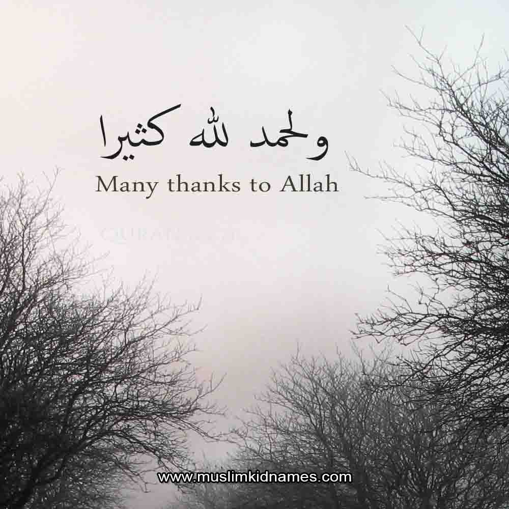 Thanks to Allah free islamic quote